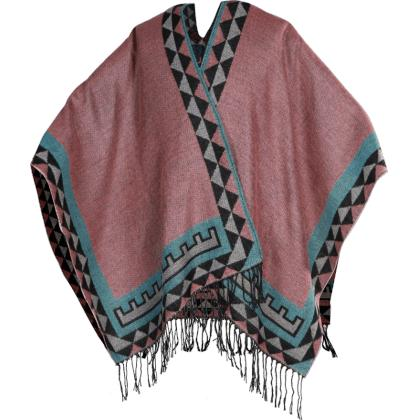 PONCHO INDIAN ROSE